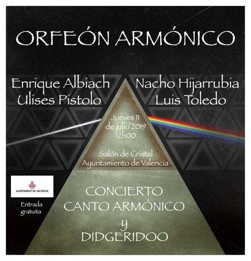 Cartell del cocnert Orfeón Armónico. EPDA