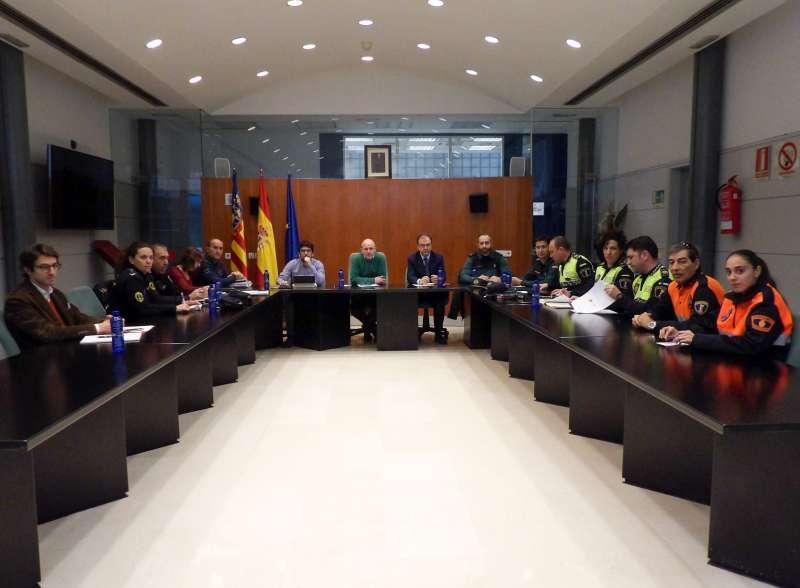 Reunión de la Junta Local de Seguridad en Massamagrell.