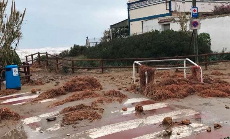 Efectes del temporal en Almenara