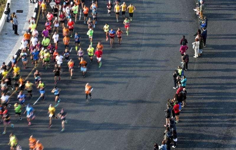 Momento del medio maratón Trinidad Alfonso EDP, en una edición anterior. EFE/Archivo
