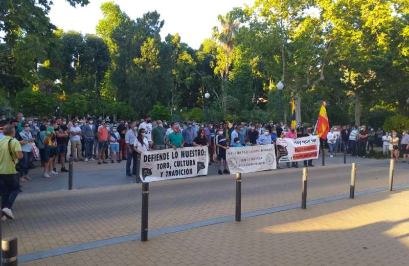 Manifestantes en el paseo Ribalta. Foto: R.Raro
