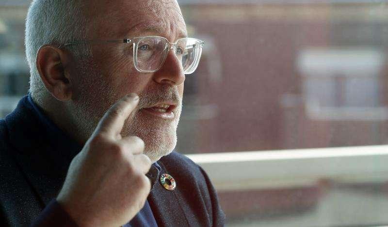 El candidato socialista a la Presidencia de la Comisión Europea (CE), el holandés Frans Timmermans. EFE/Archivo
