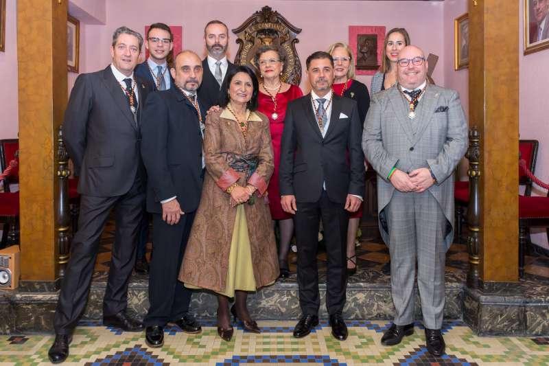 La Junta Honorifica 2020 con Maestro Mayor y Junta de Gobierno del Gremio. EPDA