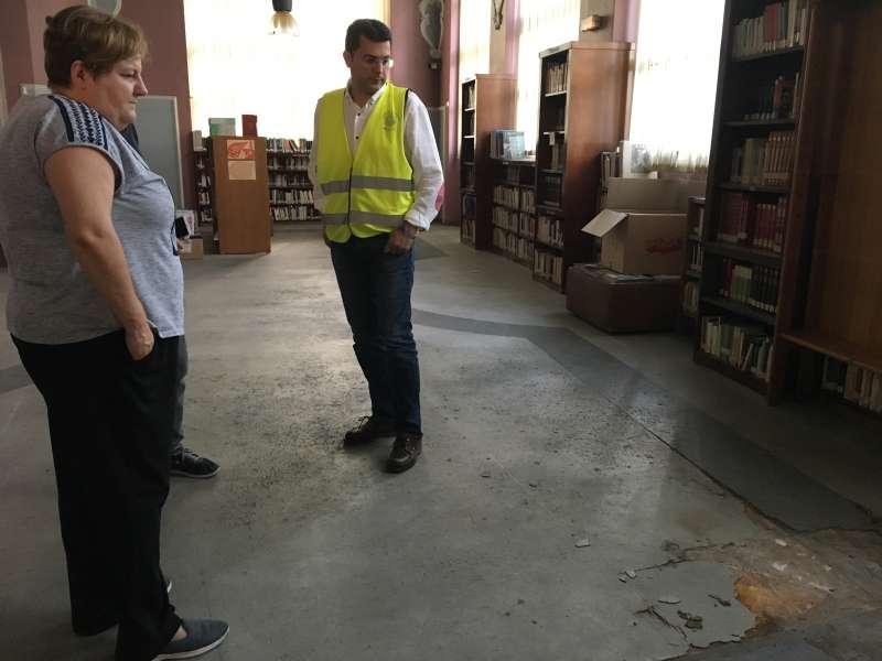 Visita a las obras de la biblioteca de Alfafar. EPDA