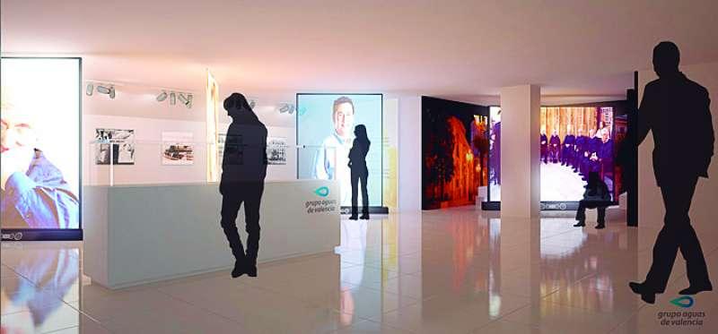 Varios paneles interactivos. FOTO AGUAS DE VALENCIA