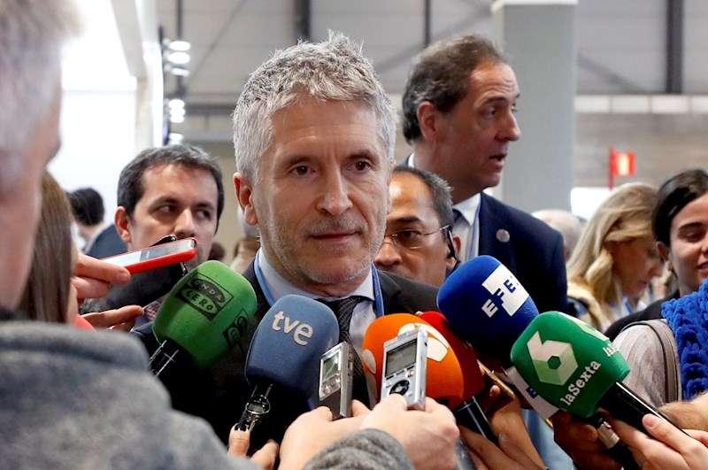 El ministro del Interior en funciones, Fernando Grande-Marlaska (c), en una imagen reciente. EFE/J.J. Guillén