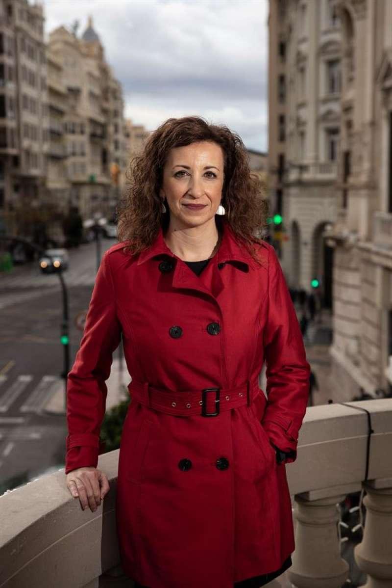 La socialista Maite Ibáñez, durante la entrevista con EFE en la que ha declarado que apuesta por crear una marca de ciudad y para ello ve