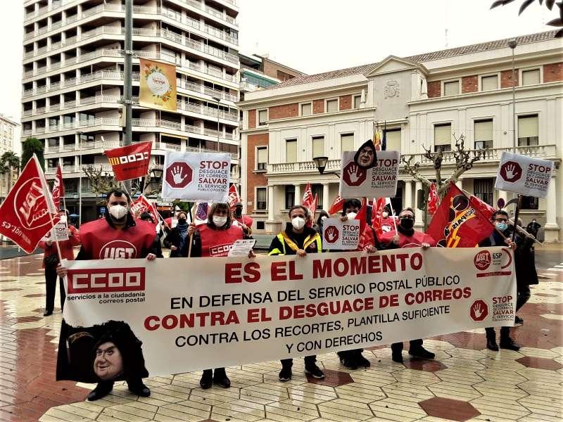 Movilización de CCOO y UGT en Castellón.