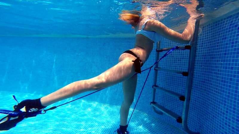 Nadathlon se puede utilizar en piscinas de reducido tamaño.