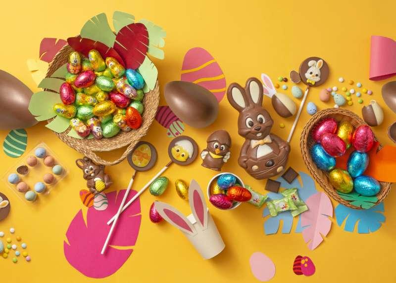 Surtido de dulces de Pascua disponible en el lineal de Mercadona