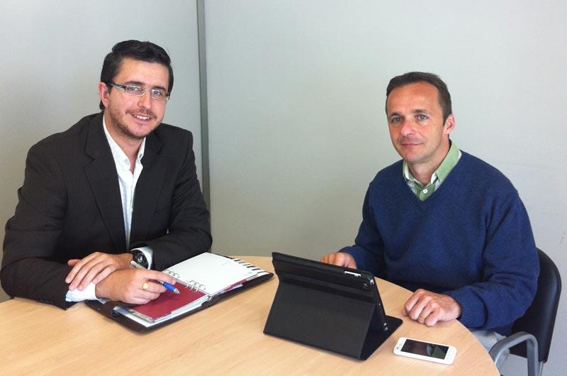 José Luis Sahuquillo y Héctor González. FOTO EPDA