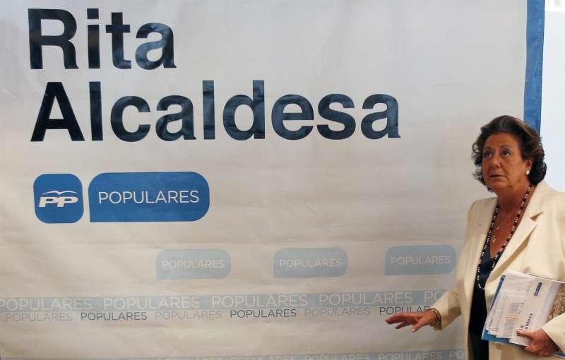 La exalcaldesa de Valencia Rita Barberá, en una imagen de la campaña electoral de 2015.