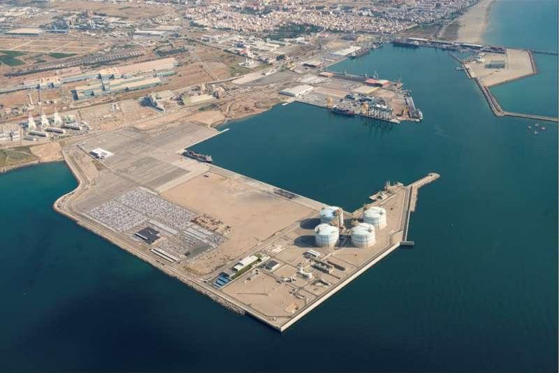 Imagen aérea del Puerto de Sagunt.
