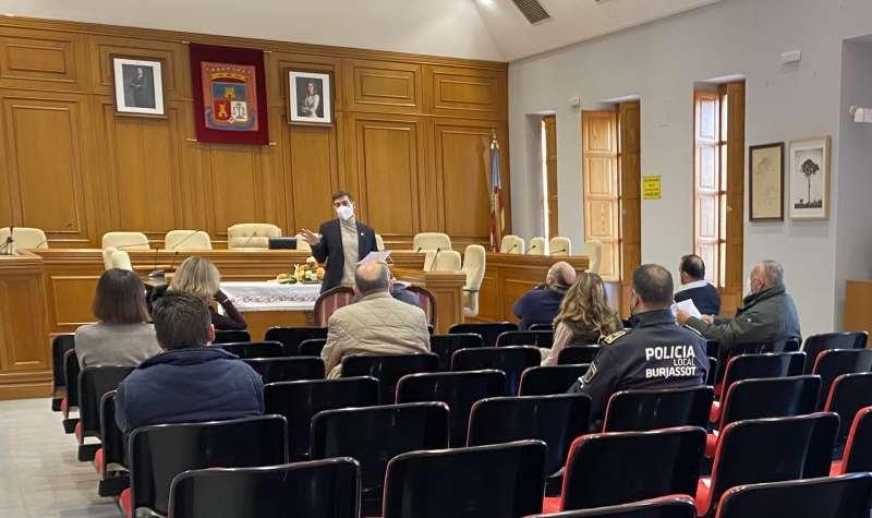 Reunión para analizar las nuevas restricciones en Burjassot. EPDA