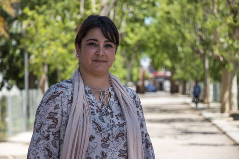 La concejala de Turismo, Natalia Antonino, en la Gerencia del Port de Sagunt. EPDA