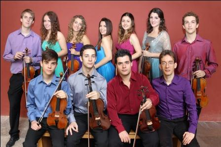 Ensemble de Violines en el Auditorio de Torrent.
