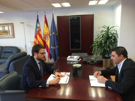 Reunión entre el Presidente de Pactem Nord y el Secretario Autonómico de Empleo.