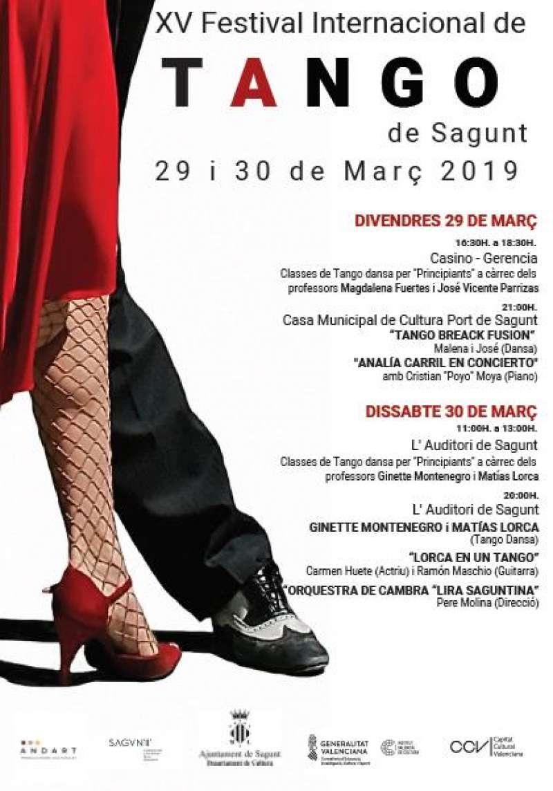 Cartel del Festival Internacional de Tango. EPDA