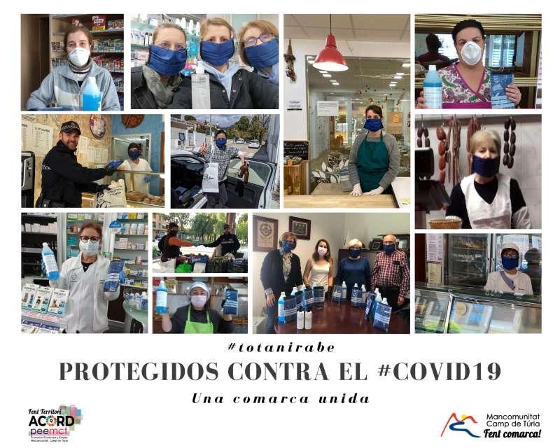 Cartell informatiu de les mascaretes a la comarca. / EPDA