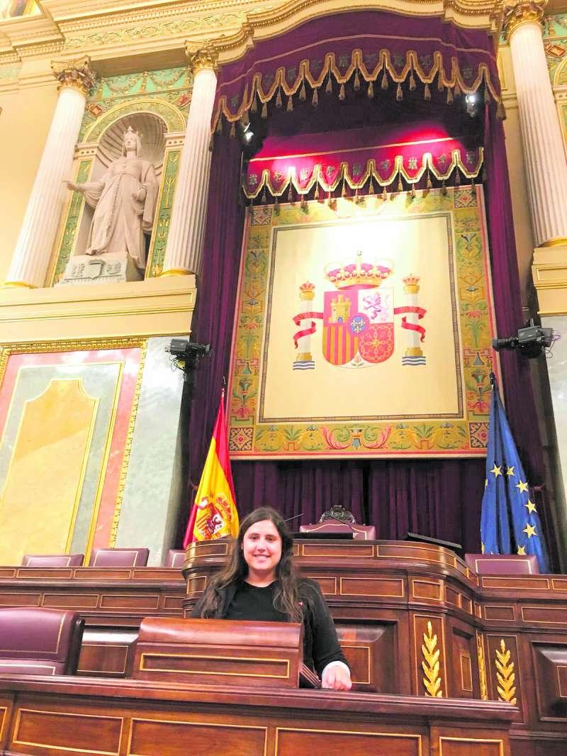 Roser Maestro en el Congreso de Madrid. EPDA