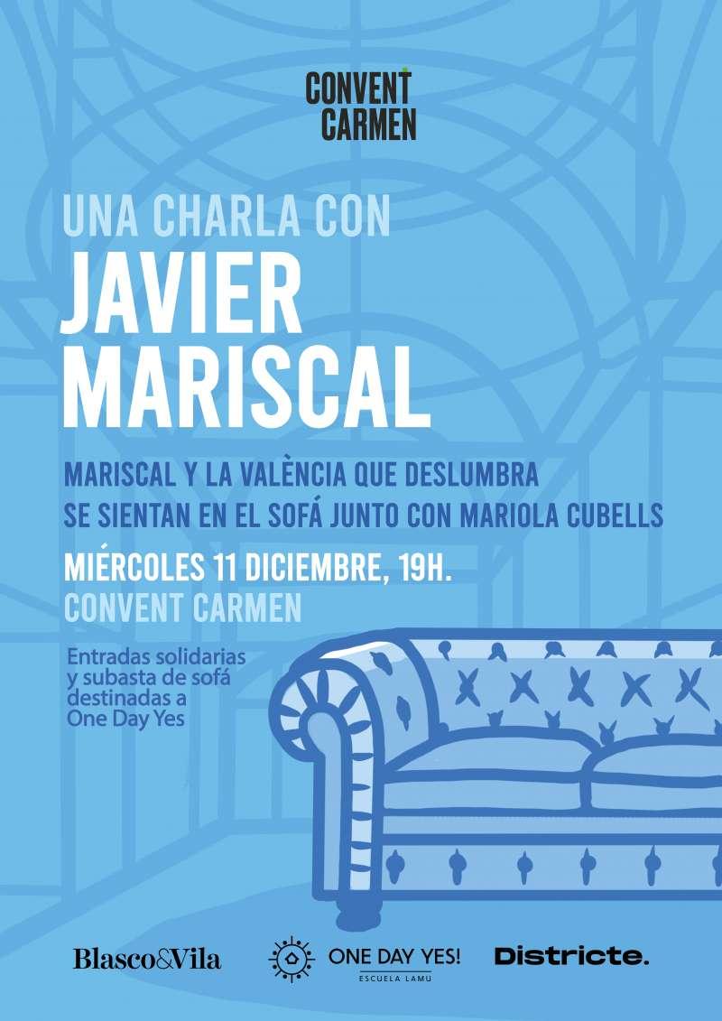 Cartel charla Javier Mariscal, diseñador valenciano. -EPDA