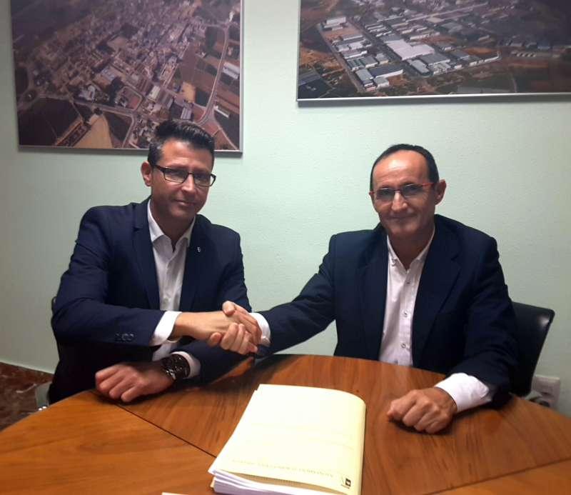 Nofuentes con alcalde de Almussafes
