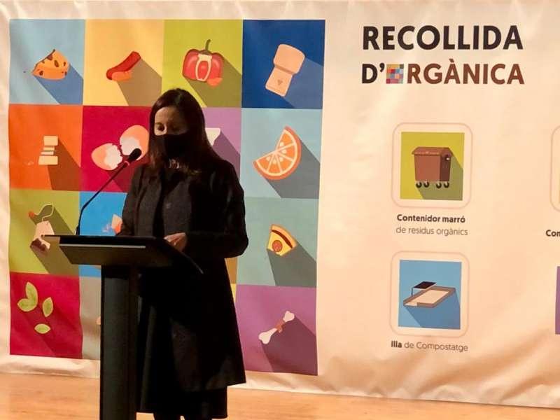 La vicepresidenta de la Diputació y responsable del Área de Medio Ambiente, Maria Josep Amigó
