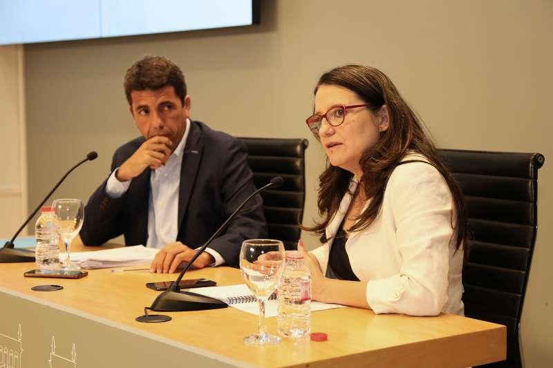Mónica Oltra y Carlos Mazón. GVA