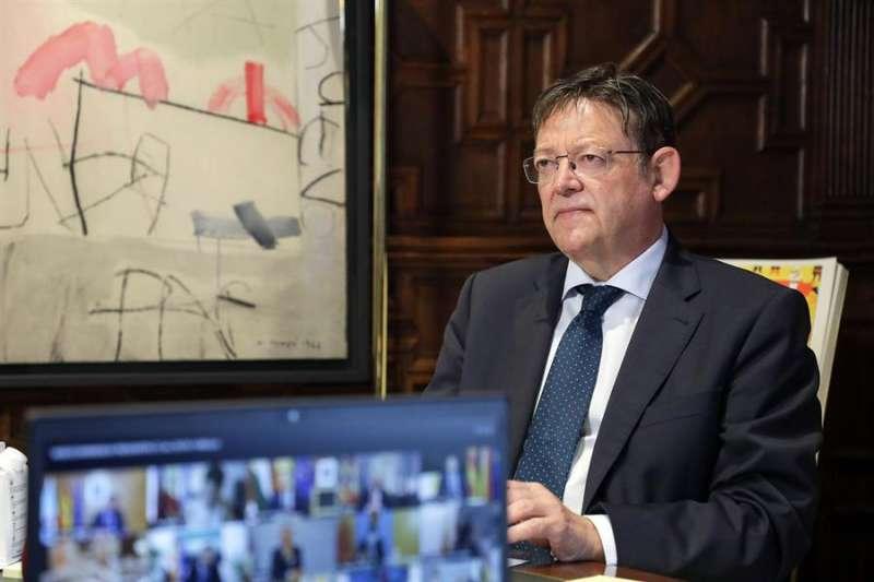 El president de la Generalitat, Ximo Puig, participa en la XXII Conferencia de Presidentes, que se ha celebrado por videoconferencia. EFE