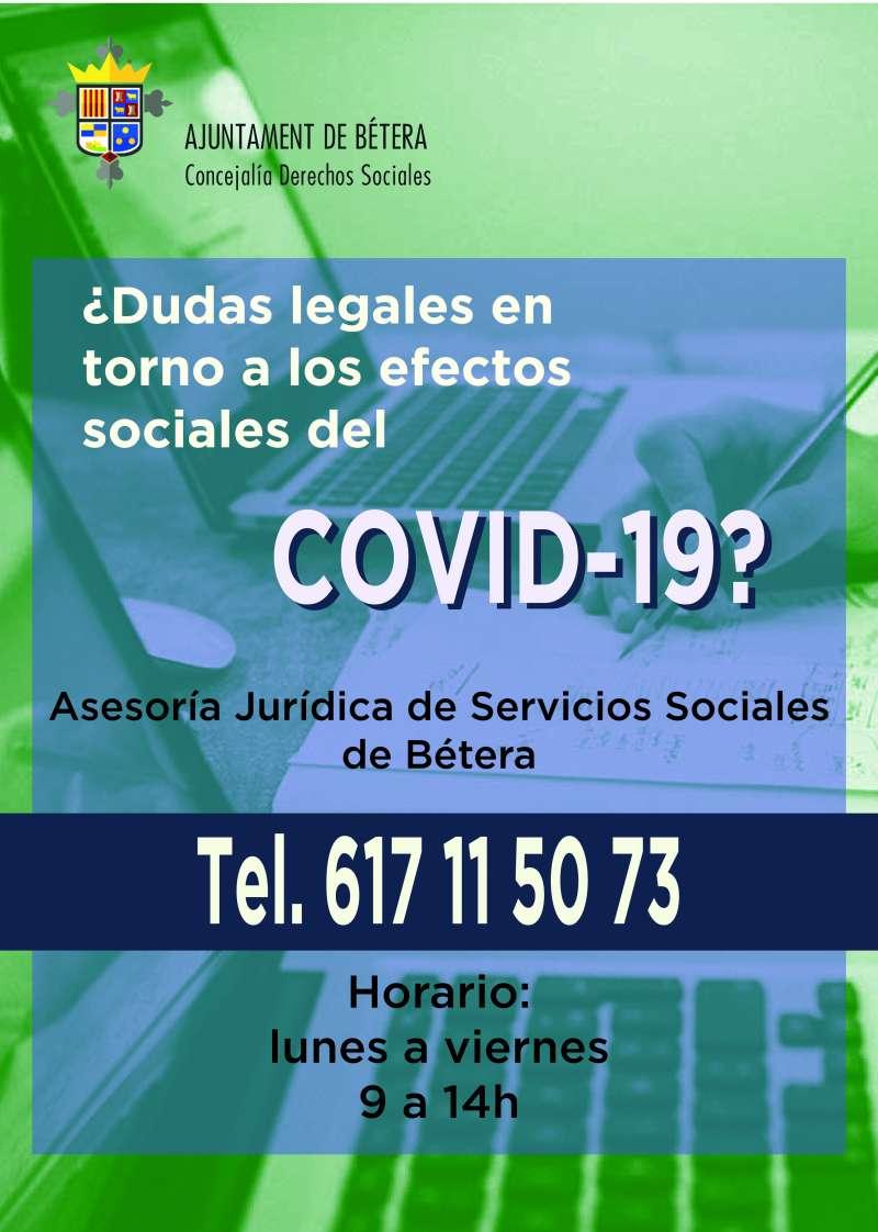 Cartel informativo de atención jurídica. / EPDA
