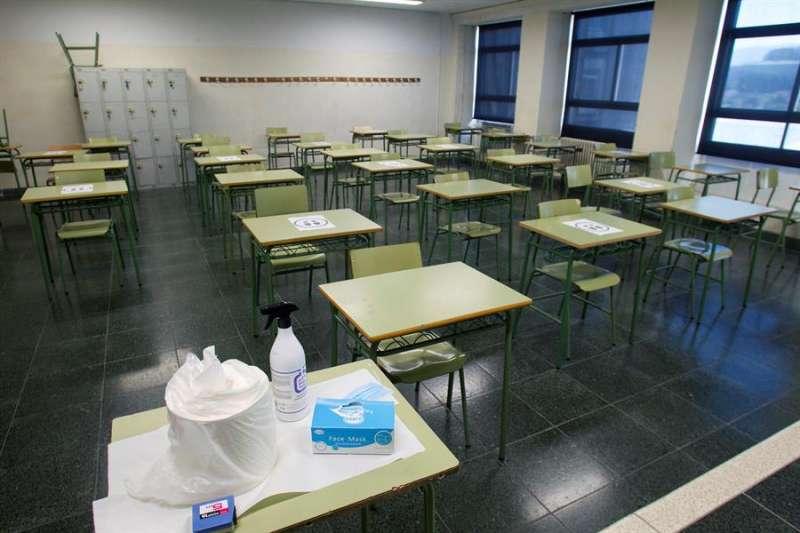 Un aula vacía en un instituto. EFE
