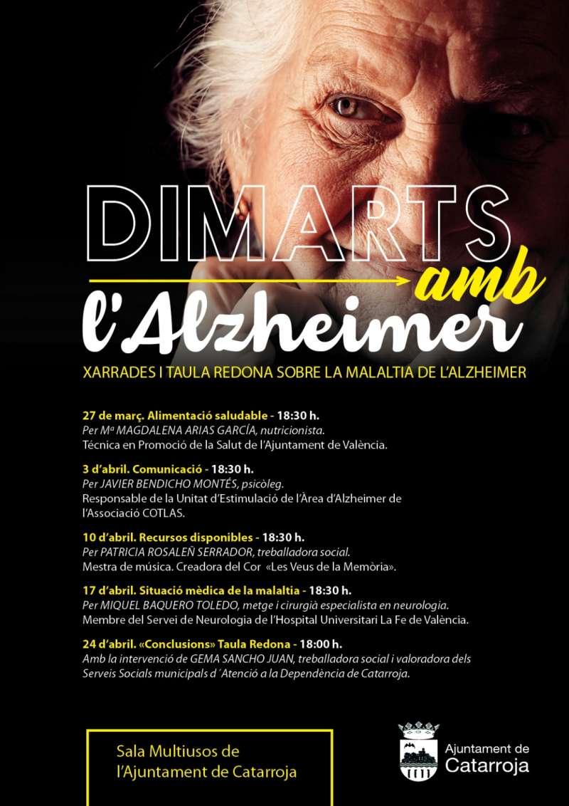 Cartel del ciclo de ponencias sobre el Alzheimer en Catarroja. EPDA