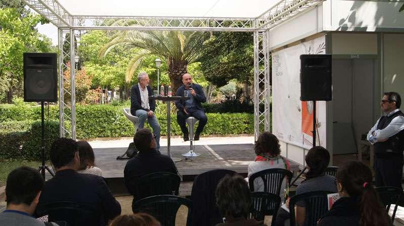 Xavier Rius i Jesús Figuerola durant la presentació del programa