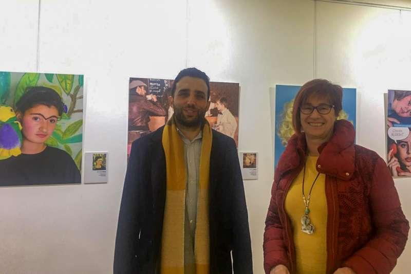 El alcalde de Sagunt, Darío Moreno, i la regidora de Cultura, Asun Moll, en l