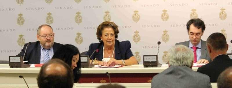 Rita Barberá, en el centro