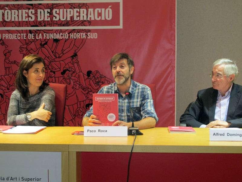 Paco Roca y miembros de la Fundació Horta Sud. EPDA