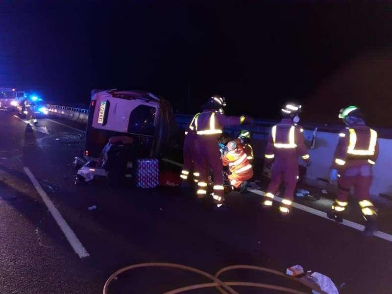 Otra imagen del accidente.