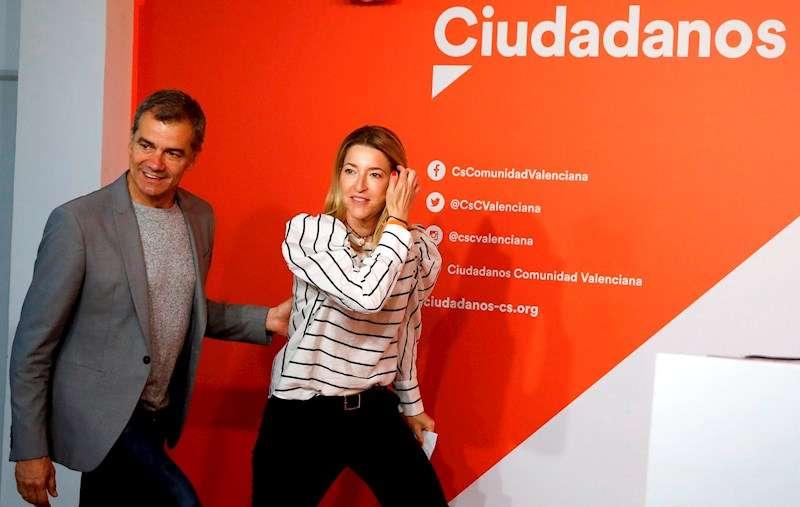 El síndic de Ciudadanos en Les Corts Valencianes, Toni Cantó, y la diputada nacional María Muñoz. EFE/Archivo