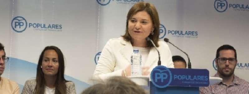 La Presidenta del Partido Popular de la Comunitat Valenciana (PPCV), Isabel Bonig. EPDA