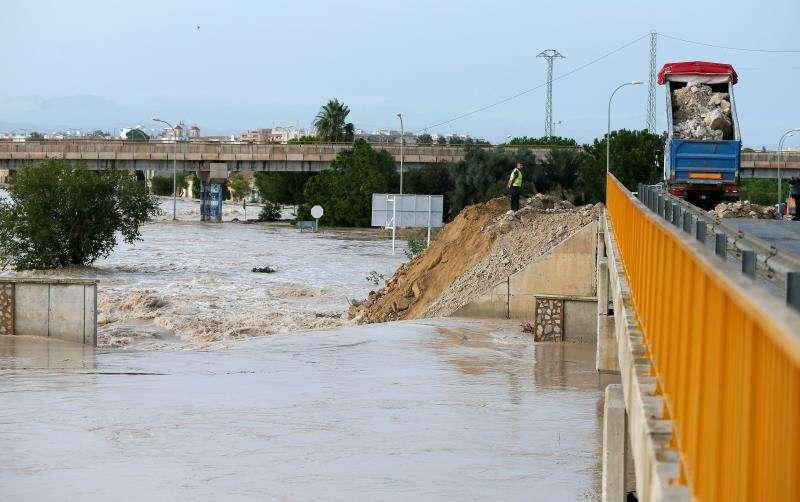 Imagen de una zona inundada de Almoradí (Alicante).EFE