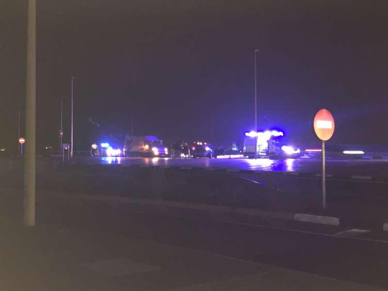 Imagen tomada minutos después del accidente. / EPDA
