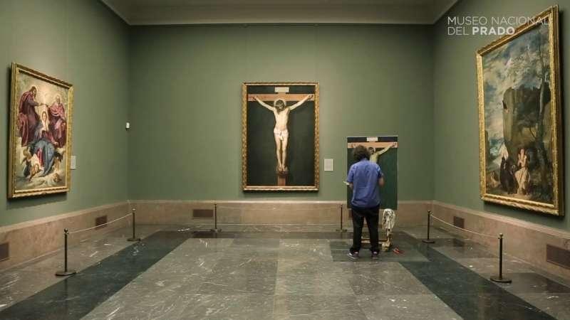 Obra El Criso de Velázquez, en el museo.