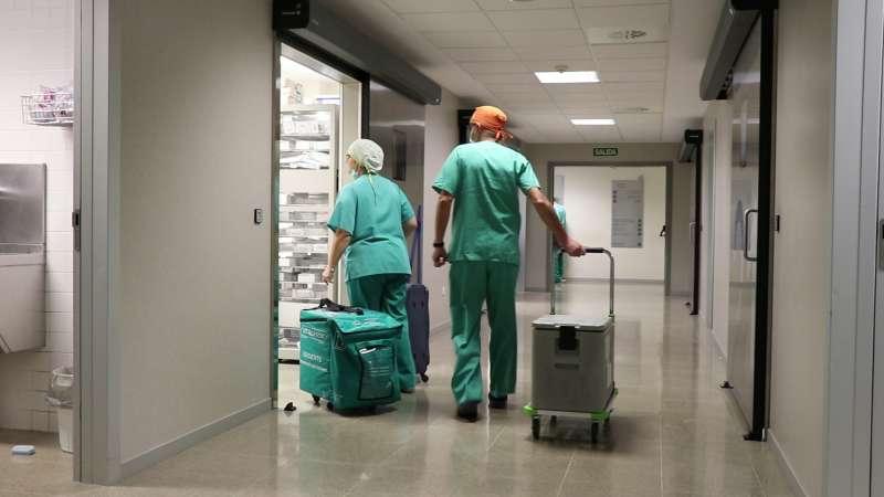 Imagen en el interior de un hospital valenciano.