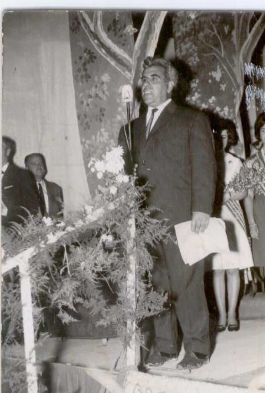 Manuel Cervera, presidente en 1965.