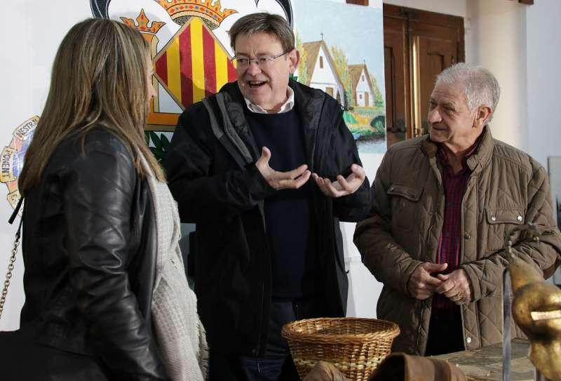 Puig durante su visita a la Albufera. EPDA