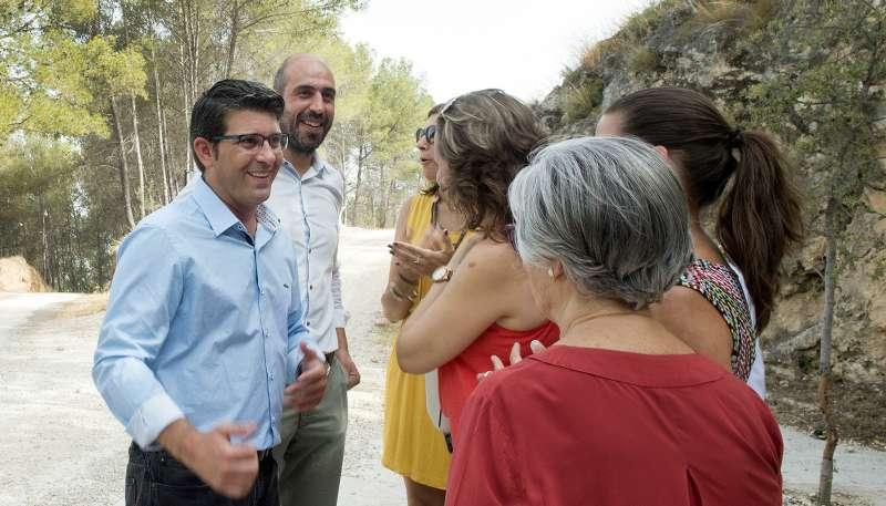 Jorge Rodríguez, en una visita a Camp de Túria.//EPDA