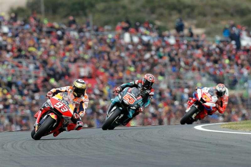 Imagen de la última carrera del mundial de motociclismo, el 17 de noviembre. EFE/ Manuel Bruque