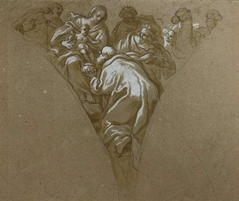 Una imagen del dibujo recuperado, facilitada por la Generalitat. EFE