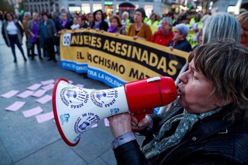 Imagen de una concentración contra la violencia de género y los asesinatos machistas. EFE/Archivo