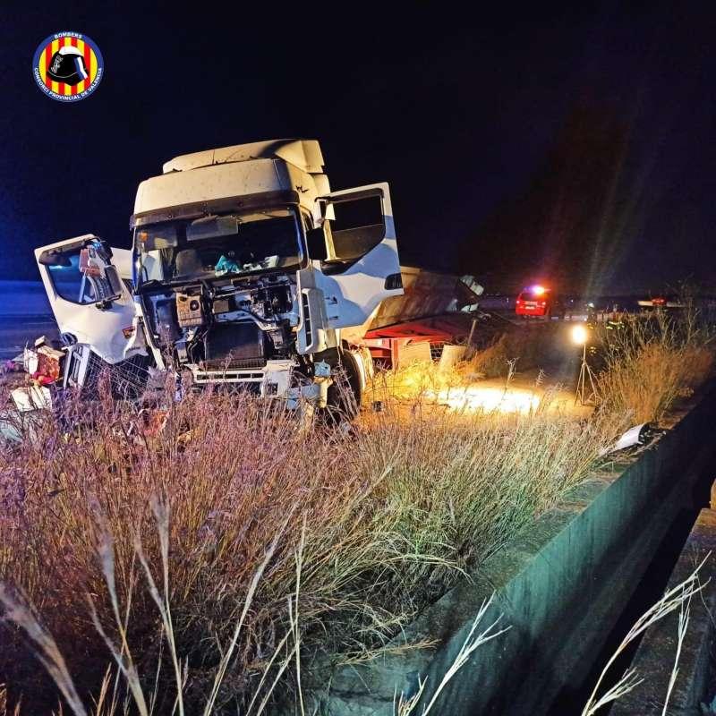 Imagen del accidente de l